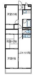 神奈川県厚木市栄町2丁目の賃貸マンションの間取り