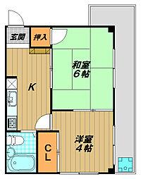 パル東須磨[1階]の間取り