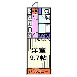 埼玉県川口市大字安行慈林の賃貸アパートの間取り
