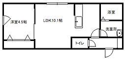 北海道札幌市白石区本郷通10丁目北の賃貸マンションの間取り