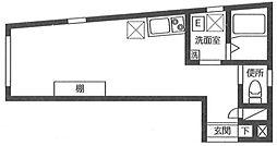 JR常磐線 北千住駅 徒歩5分の賃貸マンション 3階ワンルームの間取り