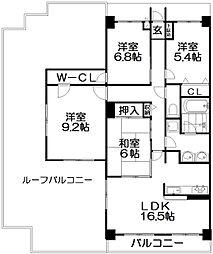 ステイツ枚方・藤阪メタセコイアの丘[6階]の間取り