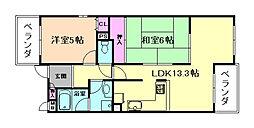 エアフォルク利倉東[1階]の間取り