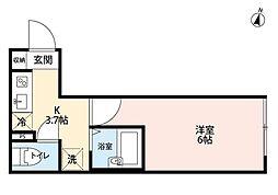 ルミナス浦和(ルミナスウラワ)[3階]の間取り