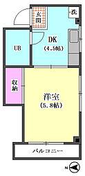 サンライズ山田[401号室]の間取り
