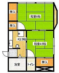 筑水荘[6号室]の間取り
