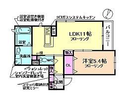 大阪府豊中市本町3丁目の賃貸アパートの間取り
