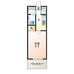 レクラン七道[3階]の間取り