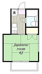 神奈川県大和市深見台2丁目の賃貸アパートの間取り