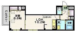 (仮称)富士見台4丁目HBS計画 3階1LDKの間取り