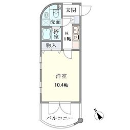 ユンヌフィーユ[4階]の間取り