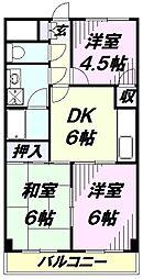 埼玉県所沢市けやき台1丁目の賃貸マンションの間取り