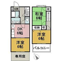 権太坂テラスハウス弐番館 3DKの間取り