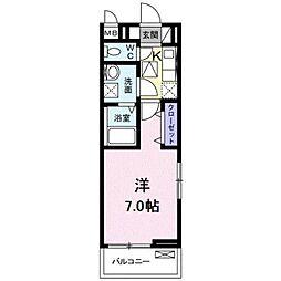東京都武蔵野市境1丁目の賃貸アパートの間取り