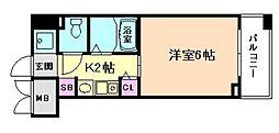 エステムコート梅田・リトリーヴ[1階]の間取り