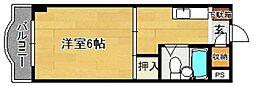 シャトレ上の原[205号室]の間取り