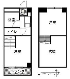 BS−1[302号室]の間取り
