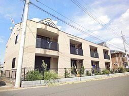 茨城県古河市上辺見の賃貸アパートの外観
