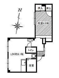 神奈川県藤沢市辻堂3丁目の賃貸マンションの間取り
