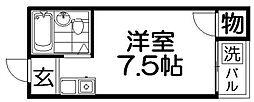 大阪府寝屋川市香里新町の賃貸マンションの間取り