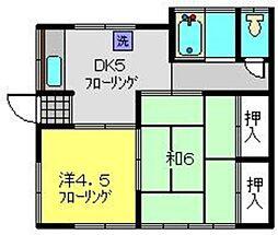 安田アパート[2号室]の間取り