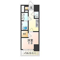 Osaka Metro中央線 朝潮橋駅 徒歩5分の賃貸マンション 1階1Kの間取り