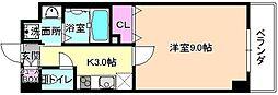 仮称)伊加賀東町PJ 2階1Kの間取り
