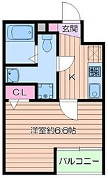 (仮称)葛飾区小菅4丁目共同住宅新築工事 3階1Kの間取り