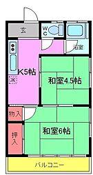 千葉県市川市大和田2丁目の賃貸アパートの間取り