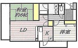 埼玉県上尾市大字原市の賃貸マンションの間取り