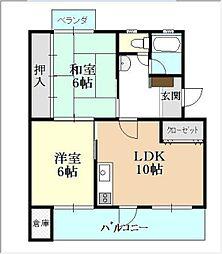 平川住宅 13[504号室]の間取り