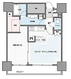 カテリーナ三田タワースイート ウエストアーク 4階1LDKの間取り