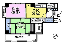 サンナップコート[4階]の間取り