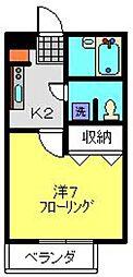 アバンス羽沢第5[2階]の間取り