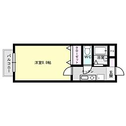 レジデンス南福岡[1階]の間取り