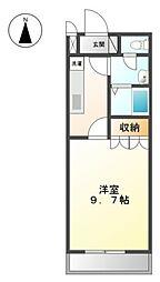 埼玉県八潮市大字西袋の賃貸アパートの間取り