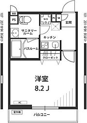 東京都練馬区大泉学園町7丁目の賃貸アパートの間取り