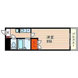 滋賀県彦根市馬場2丁目の賃貸マンションの間取り