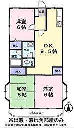 サンクレスト小林[1階]の間取り