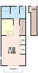 ガーデンハウス稲田堤[2階]の間取り