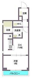 東京メトロ副都心線 西早稲田駅 徒歩8分の賃貸マンション 2階1DKの間取り