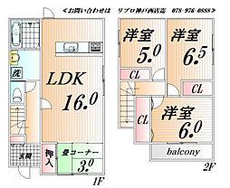 [一戸建] 兵庫県神戸市西区水谷2丁目 の賃貸【/】の間取り