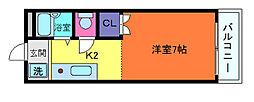 兵庫県神戸市東灘区御影本町8丁目の賃貸マンションの間取り