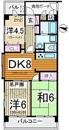 東所沢第2サニーコート[2階]の間取り