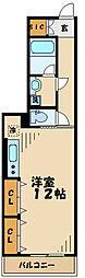 小田急小田原線 柿生駅 徒歩2分の賃貸マンション 1階ワンルームの間取り