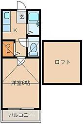 メゾンM&M[205号室]の間取り