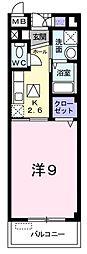 JR阪和線 浅香駅 徒歩8分の賃貸マンション 3階1Kの間取り