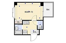 リイド22[5階]の間取り