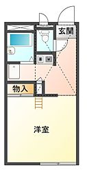 愛知県豊川市本野町西浦の賃貸アパートの間取り
