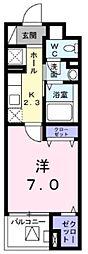 ジュピター ムサシノ 3階1Kの間取り